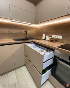 Kitchen Room Design, Kitchen Cabinet Design, Modern Kitchen Design, Home Decor Kitchen, Interior Design Kitchen, Home Design, Log Home Kitchens, White Wood Kitchens, Kitchen Models