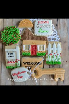 New House Cookies | New home | Sugar cookies