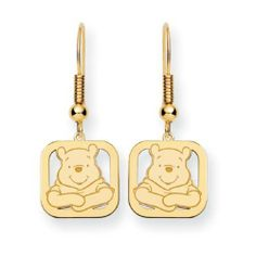 Disney Jewelry Winnie the Pooh Charm on French Earrings - Gold-plate Disney. $84.99. Gold