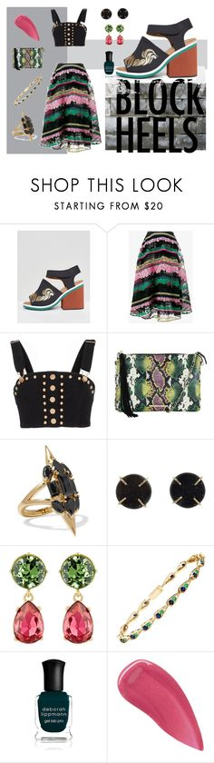 """Untitled #1871"" by moestesoh ❤ liked on Polyvore featuring Clover Canyon, Valentino, Alice McCall, Elaine Turner, Noir Jewelry, Melissa Joy Manning, Kenneth Jay Lane, Sabine Getty, Deborah Lippmann and Burberry"