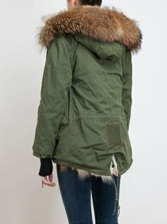 MR & MRS FURS Fur Lined Parka Jacket