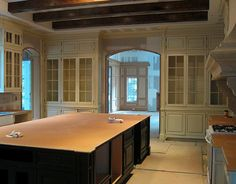 like the cabinetry and exposed beams.