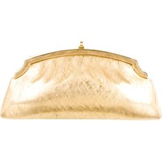 Pre-owned Judith Leiber Clutch ($245) ❤ liked on Polyvore featuring bags, handbags, clutches, gold, preowned handbags, beige purse, pre owned handbags, gold purse and judith leiber purses