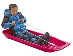 Buy Kids Snow Toboggan Sled - W/ Pull Rope To Haul Up Hill Or Cart Your Winter Cargo at online store Kids Snow Sled, Sleds For Kids, Winter Fun, Winter Season, Look Good Feel Good, Coloring Books, Toddlers, Top