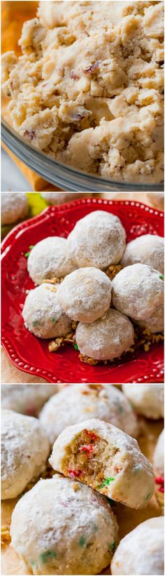 1 bowl Toasted Pecan Snowball cookies aka Russian Teacakes or Wedding Cookies! These are so easy! Cookie Desserts, Cupcake Cookies, Christmas Desserts, Christmas Baking, Fun Desserts, Delicious Desserts, Delicious Cookies, Christmas Store, Best Dessert Recipes