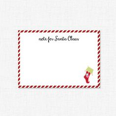 Note Card to Santa by adelicategift www.adelicategift.com