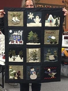"Wooly Block Adventure: Country at Heart Quilt & Gift Shop is very excited to announce we have a winner in our ""Wooly Block Adventure""! Congratulations to Sue Austin of Sterling, Illinois! You did an amazing job!"