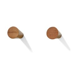 Wireworks Natural Oak Slimline Hooks Pack of Two