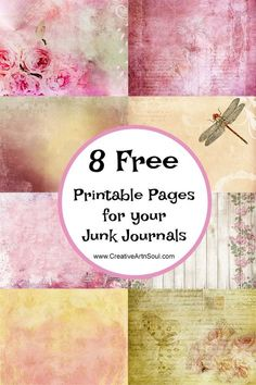 Junk journals are fun and easy to make and are the perfect craft project for using up all those bits of papers and ephemera that you've been collecting. You can never have too many pages to inclu Ideas Scrapbook, Papel Scrapbook, Printable Scrapbook Paper, Scrapbook Journal, Printable Paper, Journal Pages Printable, Printable Vintage, Scrapbooking Ideas, Journal Paper