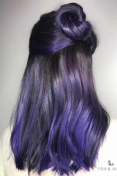 Hair Color 2017/ 2018   Dark purple hair: let us discuss the basics at first. This hair color is unnatur