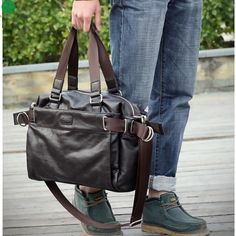 Nuevo 2015 de la pu de cuero bolsas de viaje exterior hombres bolso vintage casual  hombres 647e0d7ae99f2