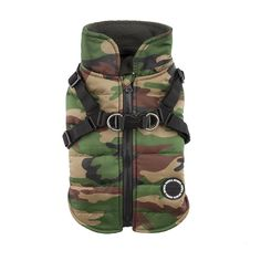 Puppia Authentic Mountaineer II Winter Vest, Large, Camo ** Quickly view this special cat product, click the image : Cat Collar, Harness and Leash
