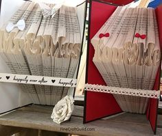 How to Fold Book pages into Letters - -  Recycled Book Art Ideas - FineCraftGuild.com