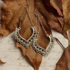 Orelia Earrings with Turquoise Semi Precious Stones