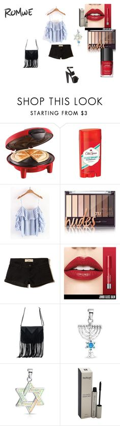 """Romwe - win $30 coupon contest ILCL"" by naomig-dix ❤ liked on Polyvore featuring Hamilton Beach, Old Spice, Hollister Co., WithChic, Bling Jewelry and COVERGIRL"