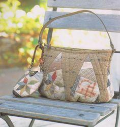 How to make tutorial set of shoulder tote Bag Handbag coin purse wallet women sewing quilt patchwork applique pdf pattern patterns ebook. $6.00, via Etsy.