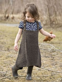 She will be as cute as a button in this convertible seed stitch jumper. Easily adjusted strap length makes this a garment she'll wear for many months.