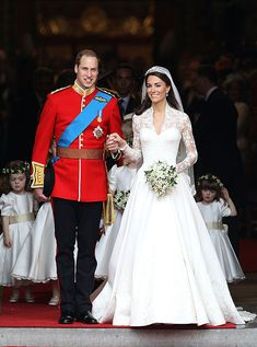 Celebrity Wedding Dress Photos - Best Photos of Celebrity Weddings - Cosmopolitan Kate Middleton