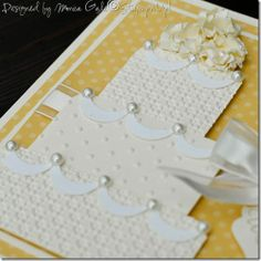 Details of wedding cake card