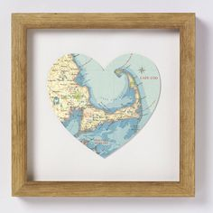 Framed vintage-inspired map print of the beautiful area of The Algarve $74.70