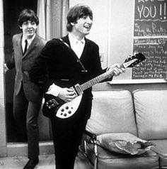 John with his seldom used Rickenbacker 325 12 string.