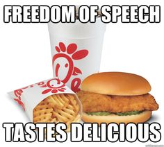 People against other's freedom of speech. I support Chick-Fil-A & always have.