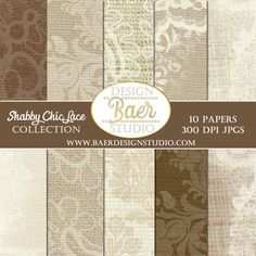 Download, shabby chic digital paper, burlap and lace digital paper, 300 dpi, jpegs, download once and use over and over again for a variety of projects.
