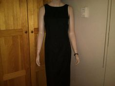 Ann Taylor lined black silk pencil dress size 4