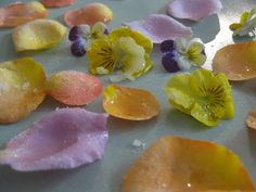 Happy Whimsical Hearts: Edible sugar flowers