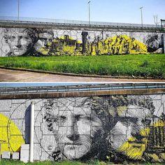 "842 Me gusta, 5 comentarios - @tschelovek_graffiti en Instagram: """"VENTREM FERI IMPERIUM"" by @chekosart in Rome, Italy for #graartproject#graart. Photo by…"""