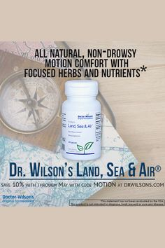 Dr. Wilson's Land, Sea & Air is an all-natural, non-drowsy motion comfort aid for the whole family. Save 10% through May with code MOTION at drwilsons.com! Effects Of Stress, Adrenal Fatigue, Coding, Sea, The Originals, Natural, The Ocean, Ocean, Nature