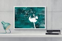 DandelionPrintable Wall ArtDigital Dandelion by HappyartWorkshop