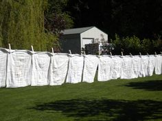 nappies drying on a clothesline, memories...