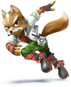 Fox as appears in Super Smash Bros. for Nintendo / Wii U. Super Smash Bros Brawl, Super Mario Bros, Star Fox, Nintendo 3ds, Wii U, Another Misaki Mei, Pokemon, Fox Mccloud, Video Game Characters