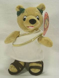 Caesars-Palace-Toga-Teddy-Beanie-Plush-New-With-Tags-9-Inches