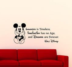 Mickey Mouse Wall Decal Disney Quote Cartoons Vinyl Sticker Decor Art Mural 84ct   Home & Garden, Home Décor, Decals, Stickers & Vinyl Art   eBay!