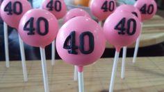 40th Birthday Cake Pops