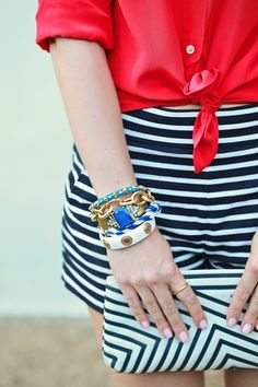 Don't be afraid to mix and match prints. Play around until you find your perfect look!