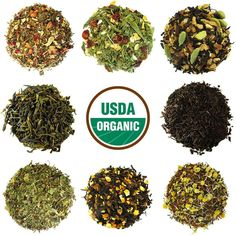 Full Leaf's Ultimate Tea Sampler is a combination of our favorite classic loose leaf teas and wellness blends! We have selected our bestsellers for this bold and flavorful sampler. With a wide variety Organic Loose Leaf Tea, Organic Herbs, Green Tea Benefits, Homemade Detox, Tea Blends, Matcha Green Tea, Detox Recipes, Juice Recipes, Detox Tea