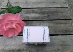 summer wedding ring box small box  hand painted baby by Modern101, $12.00