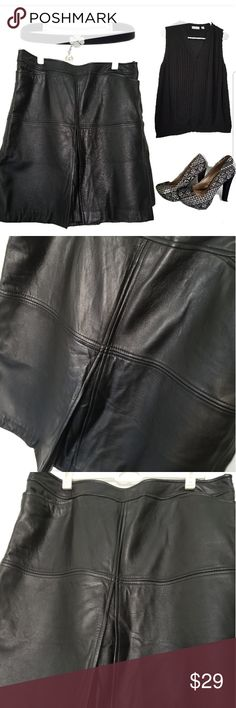 Black Real Leather Skirt Soft, supple and ready to wear. Awesome 100%  real leather skirt. Dress it up for work or a night out. Never goes out of style! Shoes and shirt in other listings LOFT Skirts Mini