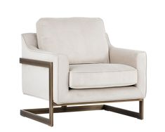 KALMIN ARMCHAIR - RUSTIC BRONZE - PIMLICO PROSECCO FABRIC - Occasional Chairs - Living - Products