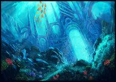 Image result for fantasy underwater kingdom
