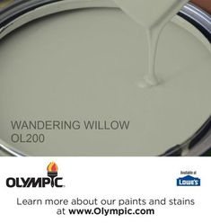 WANDERING WILLOW OL200 is a part of the greens collection by Olympic® Paint.