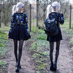 New fashion black grunge skater skirts Ideas New Fashion, Trendy Fashion, Boho Fashion, Fashion Outfits, Fashion Black, Fashion Ideas, Backpack Outfit, Black Grunge, Black Milk Clothing