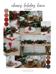 Colour Concept Guide // how to pull together a table design // cohesive design // cohesive colours // colour guide // colour concpet // design colours // holiday concept guide // holiday table // table design // Christmas table // vintage rentals #colourconcepts #colourguides #tablecolourguides #vintagedesign #holidaycolourconcept #Christmascolourconcept #homefortheholidays #cheeryhome #cheerytabledesign Wedding Place Settings, Whimsical Christmas, Wedding Table Decorations, Winter Weddings, Holiday Tables, Vintage Holiday, Christmas Goodies, Boho, Orange