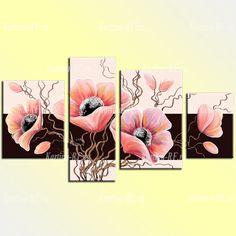 Купить модульную картину Розовые маки