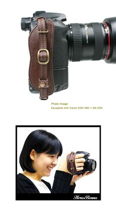 leather hand strap for cam-this could definitely come in handy.