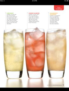 Homemade soda from food network magazine Candy Drinks, Yummy Drinks, Healthy Drinks, Soda Stream Recipes, Non Alcoholic Drinks, Cocktails, Beverages, Smoothie Drinks, Smoothies
