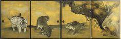 13-Kotohira-gu, paravents de la salle des tigres, détail, 4 panneaux fusuma (4x(182,5cm x 139cm), Maruyama Okyô, 1787, n°2